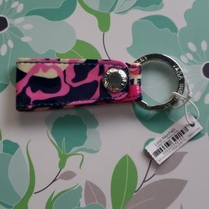 Vera Bradley Loop Keychain (Katalina pink)